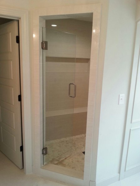 Frameless Heavy Glass Single Door BN-Clr