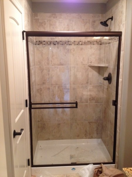 Semiframeless Standard Bypass Shower Door ORB-Clear