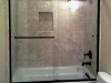 Semiframeless Euro Sliding Shower door on tub Oil Rub Bronze-Clear with 1 towel bar
