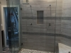 Frameless Heavy Glass Door & Panel with 3 additional Panels Channel and clamps
