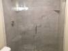 Heavy Glass Shower Door Panel Brushed Nickel Clear Panel installed with channel & top clamp