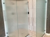 Heavy Glass Shower Cast - manko installed with channel and clamps