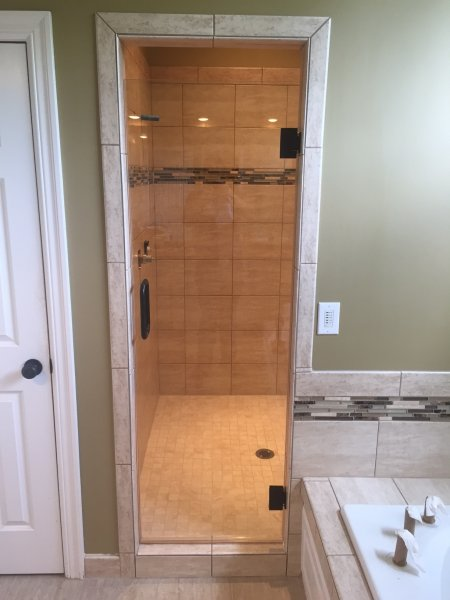 Frameless Heavy Glass Single Door ORB-Clear..