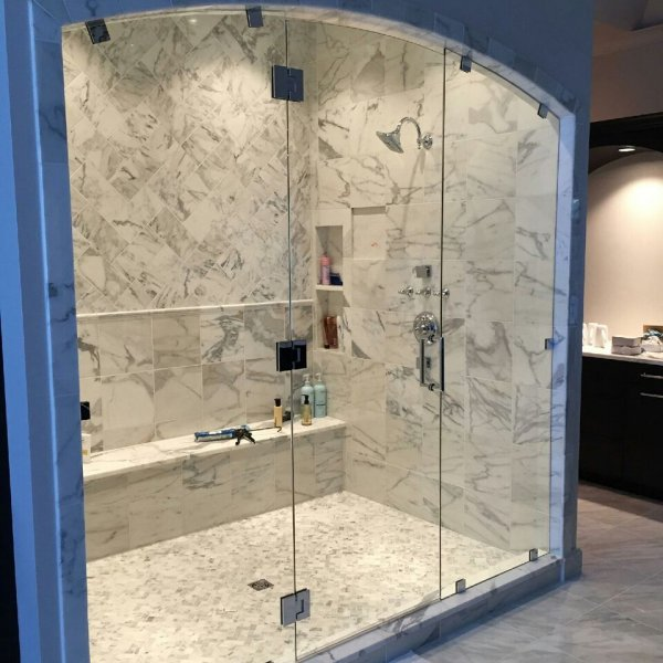 Framless Heavy Glass Panel Door Panel with Arch top