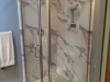 Semiframeless Euro Door & Panel with 90 degree panel Brushed Nickel-clear