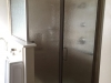 Semiframeless Euro Door & Panel with 90 degree panel Brushed Nickel-Rain