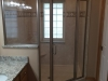 Semiframeless Euro Panel, Door, Panel with 45 degree Panel Brushed Nickel-Clear